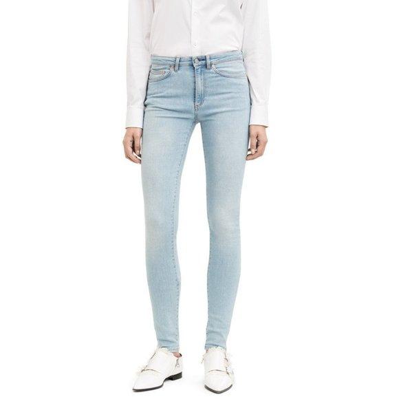 Acne Studios High Rise Skinny Pin Lt Vintage Jeans